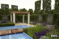 Show garden at the RHS Hampton Court Palace Flower Show 2012