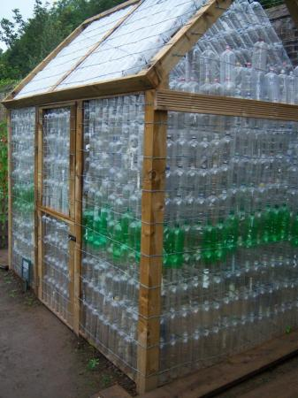 Soft drink bottle greenhouse, National Botanic Gardens of Wales.